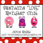 "Valentine ""LOVE"" Monster Math & Literacy"