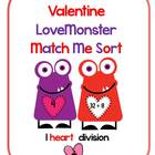 Valentine LoveMonster Match Me Division Facts