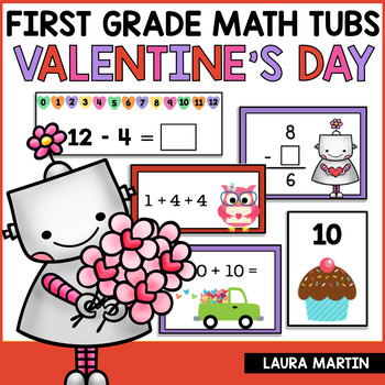 Math Centers-Valentine First Grade Common Core Activities