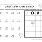 Valentine Multiplication Bingo - Two-Digit Multiplication