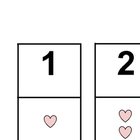 Valentine Numbers 1-20 Match Up