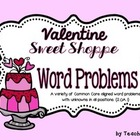 Valentine Sweet Shop Word Problem Task Cards
