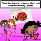 Valentine Sweeties Draw and Cut Literacy and Math Pack