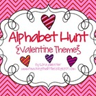 Valentine Themed Alphabet Hunt
