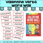 Valentine Verbs Vocabulary Word Wall