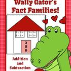 Valentines Addition & Subtraction Fact Families Center Gam