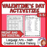 Valentine's Day Activities - Creative and Critical Thinkin