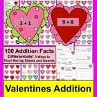 Valentine's Day Addition Fact Games
