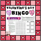 Valentine's Day Bingo Game Activity for Students