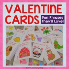 Valentine's Day Cards Fun Phrases They'll Love Printable V