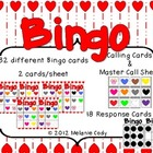 Valentine's Day Color Hearts Bingo -- French and English