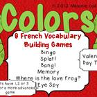 Valentine's Day Color Hearts Bingo and Vocabulary Buidling