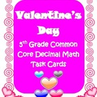 Valentine's Day Common Core 5th grade Decimals math review