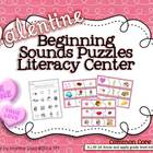 {Valentine's Day} Common Core Beginning Sounds Literacy Center