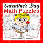 Valentine's Day Common Core Math Puzzles - 1st Grade