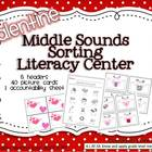 {Valentine's Day} Common Core Medial Sounds Literacy Center