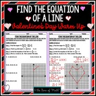 Valentine's Day: Find the Equation of a Line Given Two Points