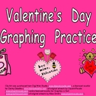 Valentine's Day Graphing Practice for Kindergarten