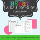 Valentine's Day Hearts Composite Area & Perimeter Lab Activity