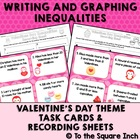 Valentines Day Inequalities Task Cards and Recording Sheet