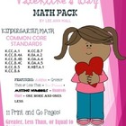 Valentine's Day Kindergarten Math Pack
