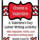 Valentine's Day Writing- Letter with Directions, Rubric, a