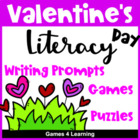 Valentine's Day Literacy Puzzles and Games
