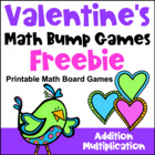 Valentine's Day Math Bump Games Freebie