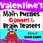 Valentine's Day Math Games Puzzles and Brain Teasers