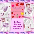 Valentine's Day Math & Literacy Worksheets & Activities fo