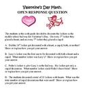Valentine's Day Math Open Response:  Number Sense and Operations