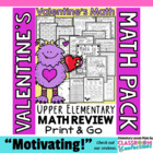 Valentine's Day Math Pack for Upper Elementary {10 Activit