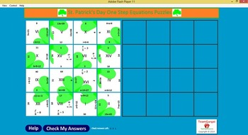 Valentine's Day Math Puzzle - Combining Like Terms - Polynomials-Free