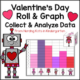 Valentine's Day Math Roll and Graph Activity