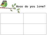 Valentines Day, Owl Love, Writing Sheet