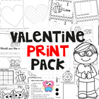 Valentine's Day Print Pack - A Collection of Easy to Prep
