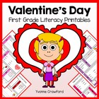 Valentine's Day Quick Common Core Literacy (1st grade)