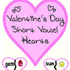Valentine's Day Short Vowel Hearts - ELA Center Activities