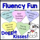Valentines Day Sight Word Phrases: Doggie Kisses Game