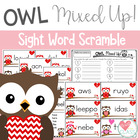 Valentine's Day Sight Word Scramble {Owl theme}