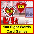 Valentine's Day Sight Words Memory & Cupid Card Games-Level 1