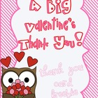 Valentine's Day Thank You Card