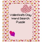 Valentine's Day Word Search Puzzle