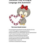 Valentine's Day Writing & Language Arts Lesson Bundle