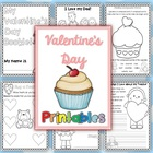 Valentine's Day Writing Worksheets Vocabulary and More - 24 pages
