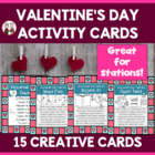 Valentine's Day activities for kids: Kid friendly station cards