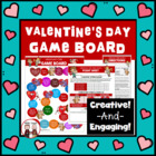 Valentine's Day game board activities for the holiday