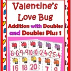Valentine's Love Bug Addition with Doubles Matching Activity