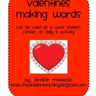 Valentines Making Words Activity