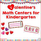 Valentine's Math Centers for Kindergarten